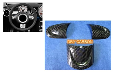 for for Mini Cooper R56 Real Carbon Steeling Wheel Decorations Kit Cover
