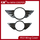 Mini Cooper R53 Real Carbon Boot Trunk Lid Hood WING Badge Cover (Front+Rear)